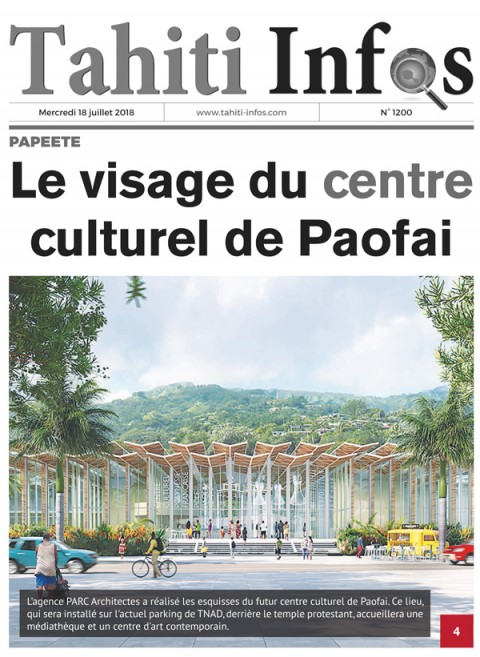 The face of the cultural center of Paofai - Tahiti news - July 18th, 2018